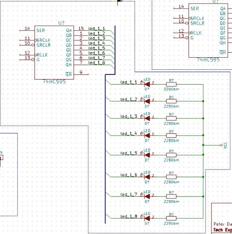 schematic wiring part 1 kicad like a pro this is the led bank 1 segment of the schematic complete a bus bus entries net labels and wires